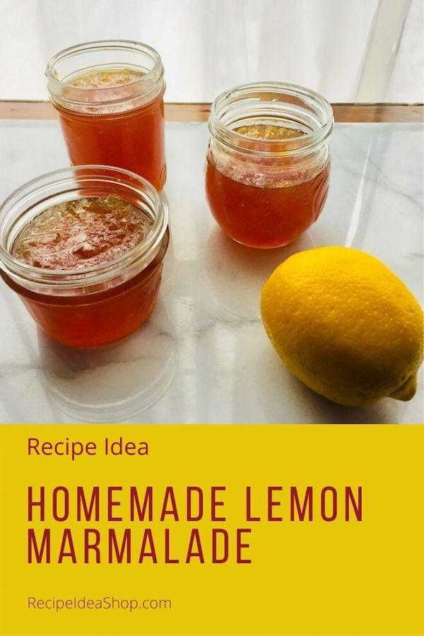 Homemade Lemon Marmalade, like lemon meringue pie for your toast. #homemadelemonmarmalade #marmalade #recipes #breakfast #glutenfree #comfortfood #recipeideashop