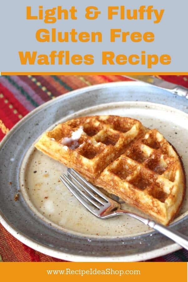 Light Fluffy Gluten Free Waffles. Don't tell anyone they are GF. Unless you want to eat them all. Then go ahead. It's a great strategy. #gluten-free-waffles, #glutenfree, #gluten-free, #gluten-free-waffles-recipe. #recipeideashop