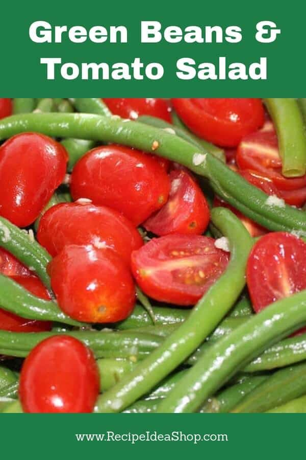 This is a beautiful, simple salad. Quick to make. So amazing. #greenbeantomatosalad; #greenbeanssalad; #greenbeansalad; #greenbeans; #moosewood; #holidayrecipes; #recipes; #recipeideashop