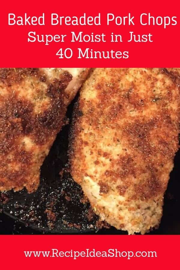 Baked Breaded Pork Chops #bakedbreadedporkchops #sitdownandrelax #recipeideashop
