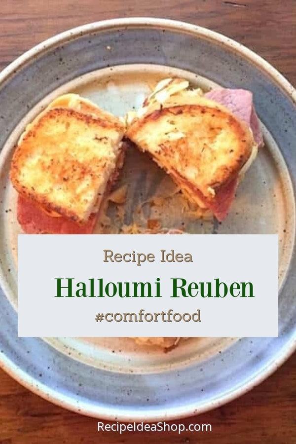 Corned Beef Sandwich with Halloumi Cheese? Yes! #halloumi-corned-beef #st-patricks-day #cornedbeef #irish-food #halloumi #recipes #glutenfree #recipeideashop