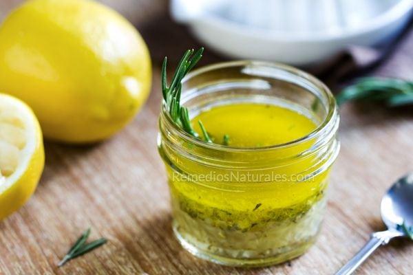 ajo limón y aceite de oliva