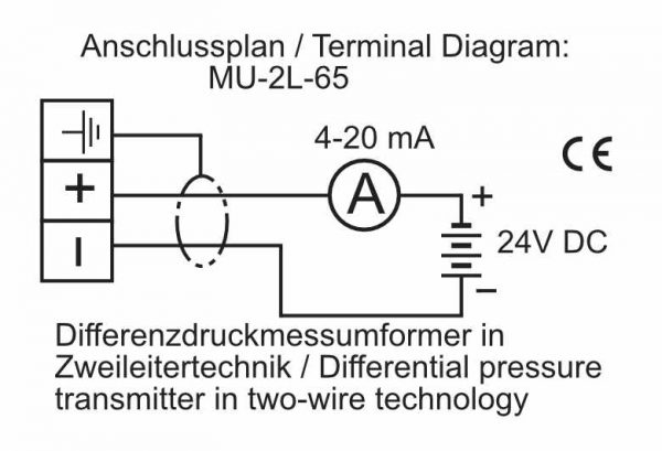 Differential Pressure Transmitter in 2-wire - MU-Analog-65-2L