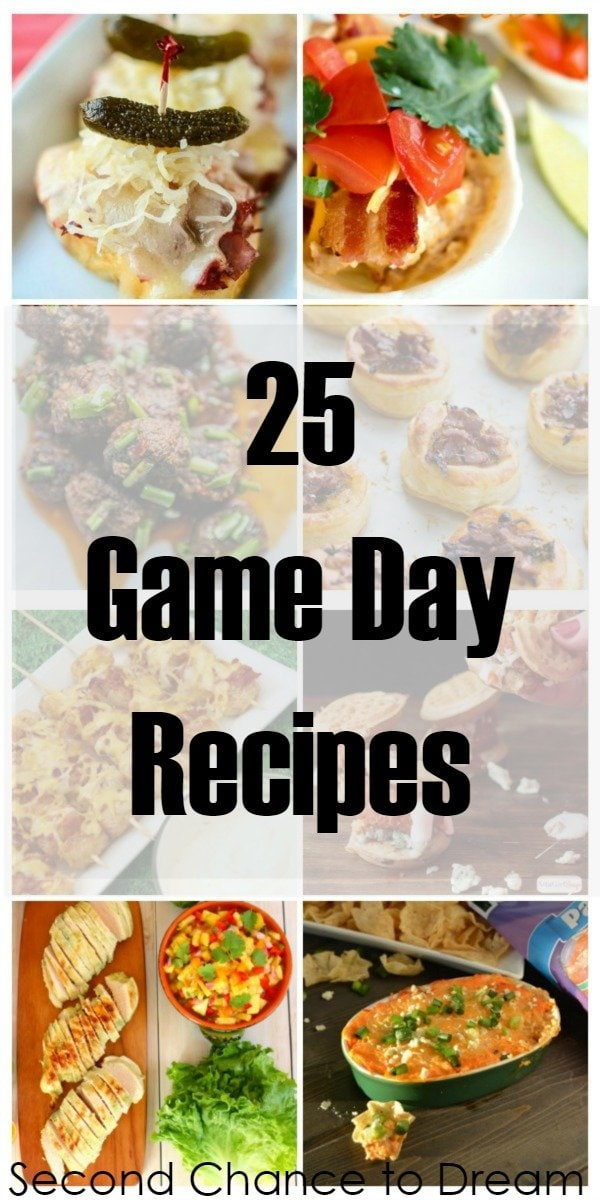 Second Chance to Dream: 25 Game Day Recipes #superbowl #gameday
