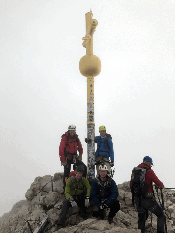 Gipfelfoto an der Zugspitze