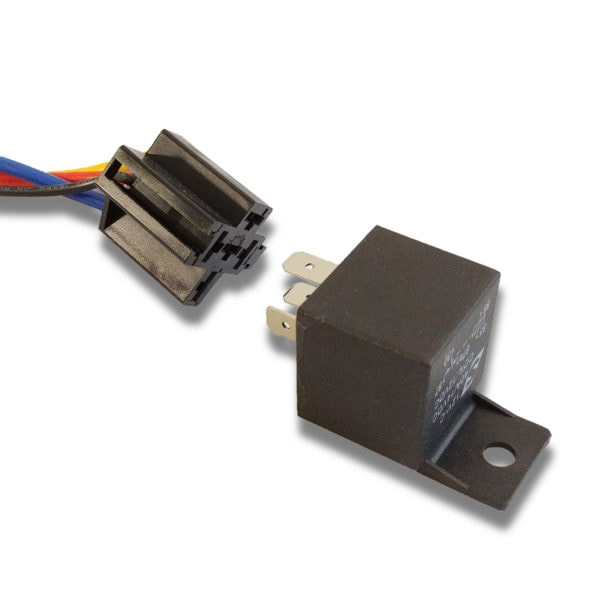 Automotive Relay Disassembled from Socket 40A 14VDC 12V 600x600 - 40A Automotive Relay 12VDC Coil w/ Wire Harness