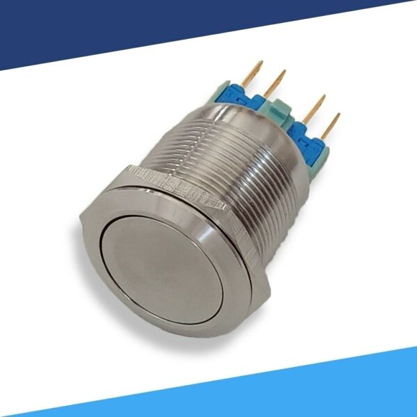 Metal 4 pin waterproof 22mm latching push button switch angle2 S 600x600 - Stainless 22mm Switch