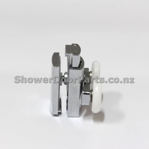 NOB3 double shower door rollers view 1