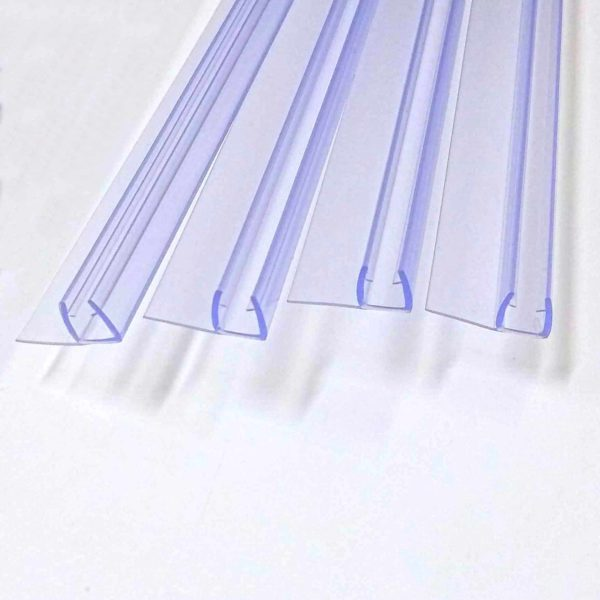 Vertical seals 6mm glass 1830 long shower door parts