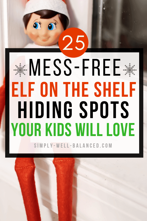 elf on the shelf hiding spots