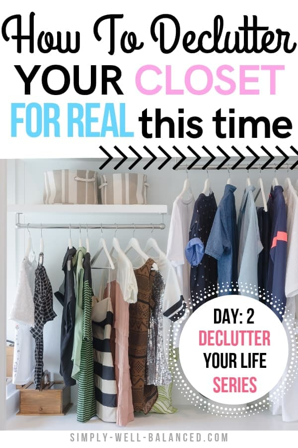 Learn how to declutter your clothes closet
