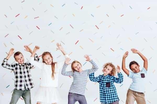 Kids dancing and taking a brain break