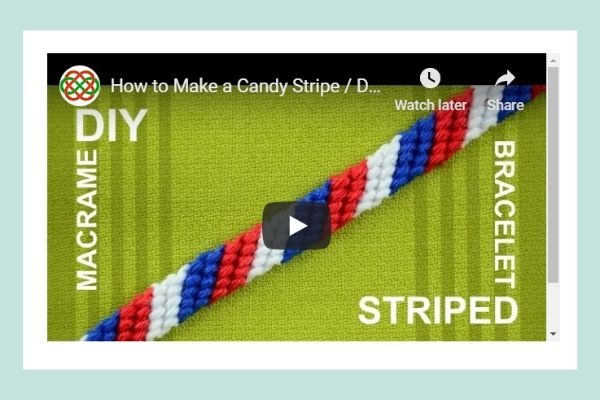 Candy Stripe Friendship Bracelet Video Tutorial