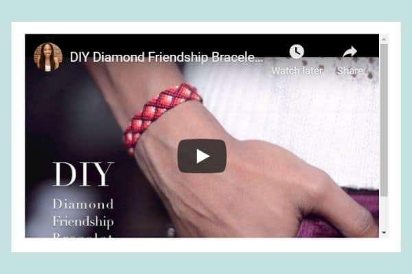 DIY Diamond Friendship Bracelet