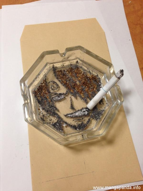 These anime anime artworks are made from cigarettes