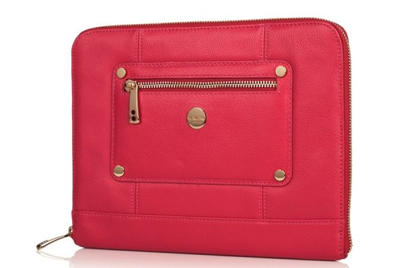 Knomo iPad Zip Sleeve in Teaberry