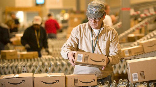 Amazon warehouse boxes