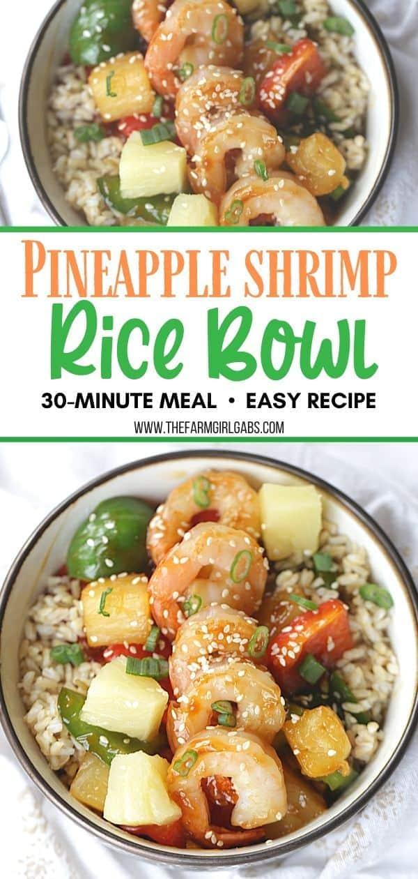 Pineapple Shrimp Bowl. Pineapple Shrimp Rice Bowl. Shrimp Poke Bowl