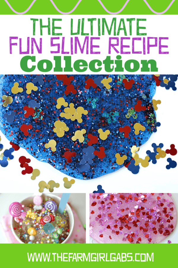 Ready for some gooey fun? There is no limit to the amount of fun you can have creating slime. Check out this ultimate collection of Fun Slime Recipes. #slime #slimerecipes #kidscraft #DisneyCraft #crafts