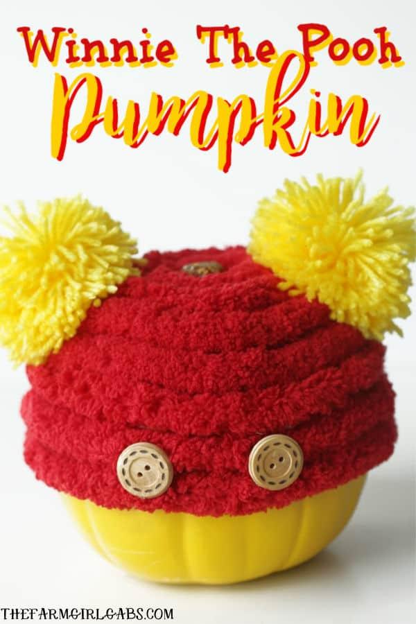 Even our favorite tubby little cubby deserves his own pumpkin. Make Your Own Winnie The Pooh Pumpkin this Halloween. #DisneyCraft #WinnieThePooh #Halloween #Pumpkin #WaltDisneyWorld