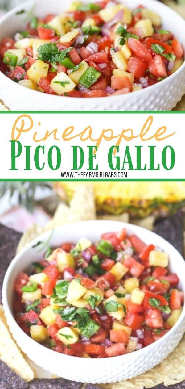 Pineapple Pico de Gallo long pin