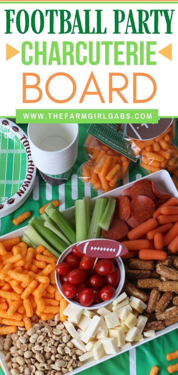 Score big at your game day party with this easy Football Party Snack Tray. This football party snack idea will have your guest cheering for more! Herr's Mini Cheese puffs add an extra cheesy crunch to this easy football snack idea. Learn how to create your own grazing board or charcuterie board for your next game day party. #Ad #footballpartyidea #snackrecipe #partyideas #gamedayparty