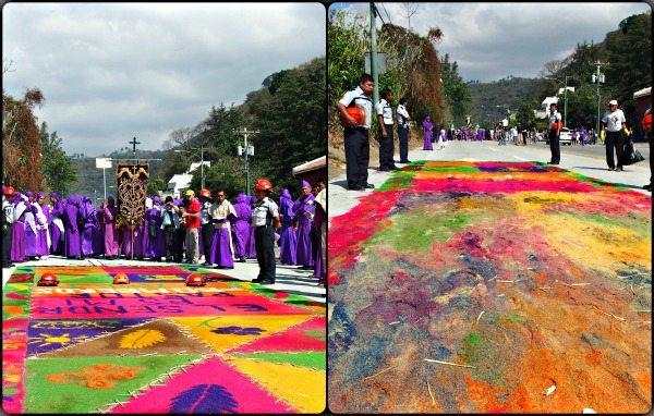 Flower carpets in Antigua Guatemala