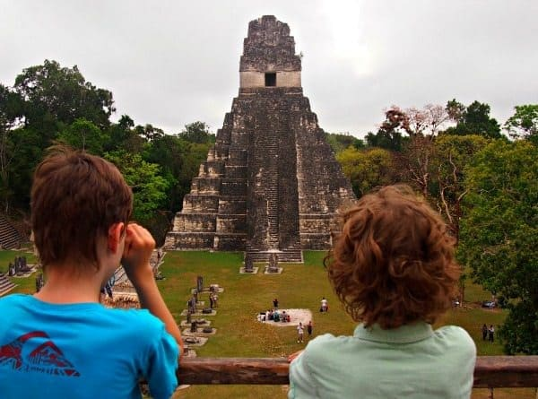tikal with kids