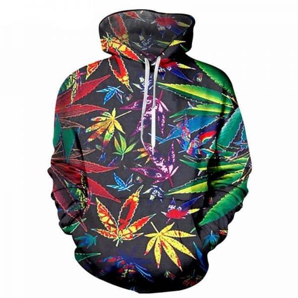 Chill Hoodies Vibrant Cannabis Hoodie Weed Marijuana Unisex Adult Sweatshirt