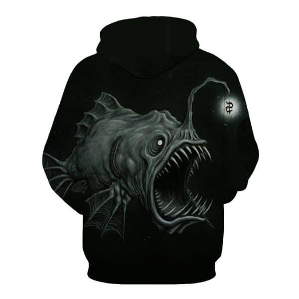 baited fishing hoodie