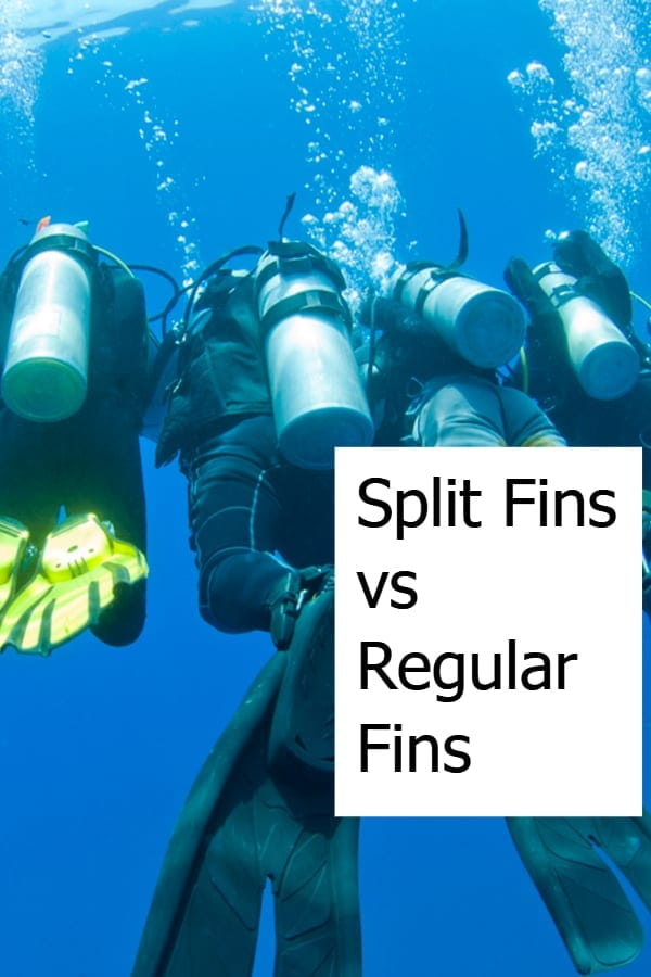 Split Fins vs Paddle Fins are used by scuba divers as both open-heel or full foot variants