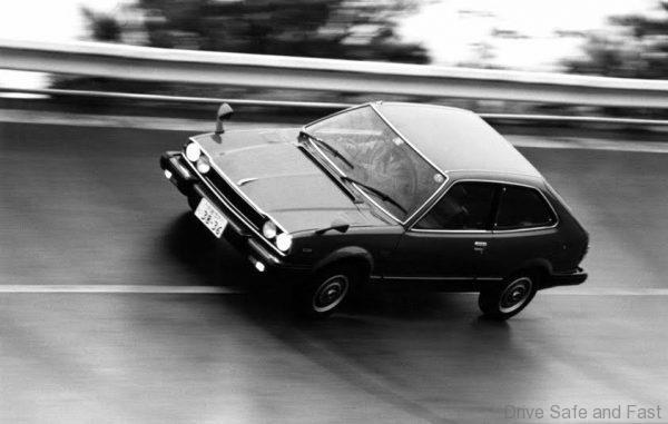 1976 Honda Accord on track