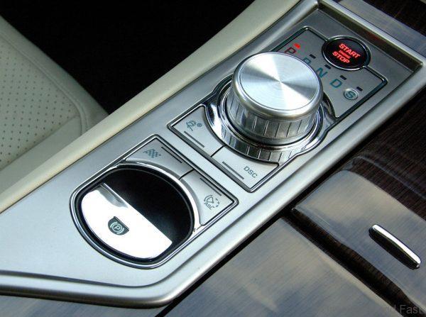 Jaguar XF 2008-2010 rotary gear shift