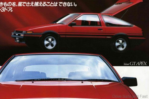 Toyota AE86 Levin brochure