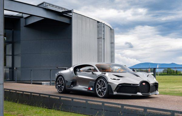 Bugatti Divo Hypercar leaving factory