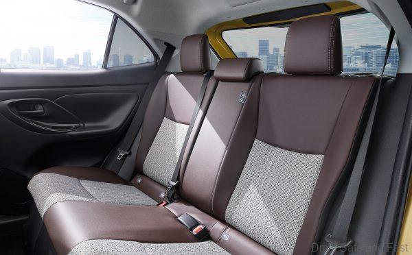 Toyota Yaris Cross rear seats