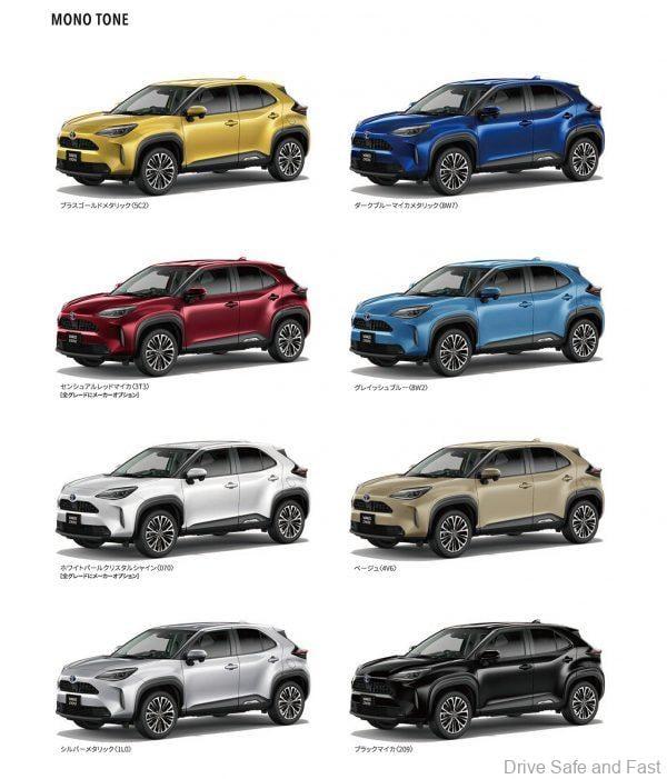 Toyota Yaris Cross colours