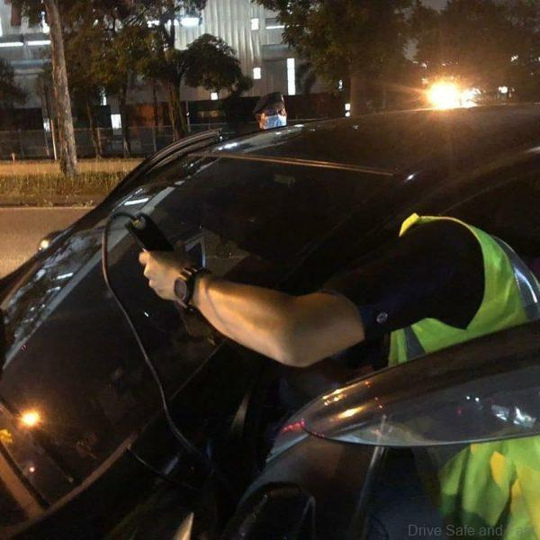 JPJ Officer Checking For Illegal Tint, Plates and Headlights