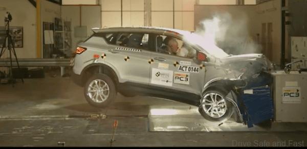 Proton X50 ASEAN NCAP Results front impact