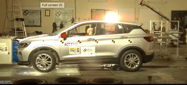Proton X50 ASEAN NCAP Results high speed impact