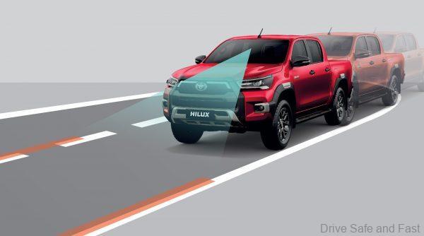 Lane Departure Alert (LDA) on Toyota Hilux