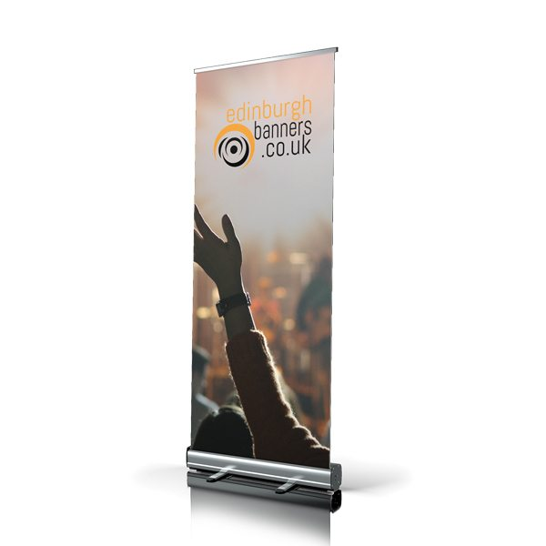 Freestanding Rollup Band Banner