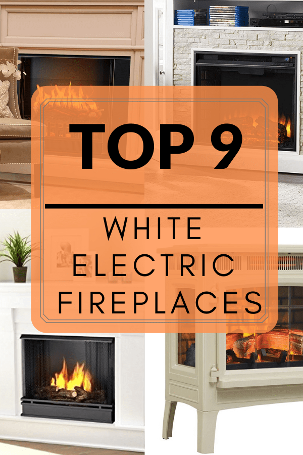 best white electric fireplaces