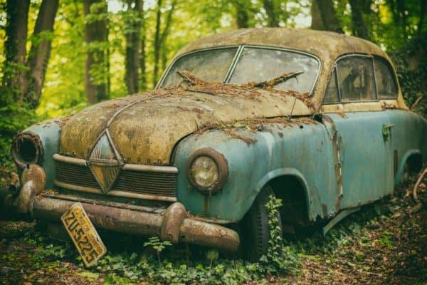 auto, pkw, junkyard