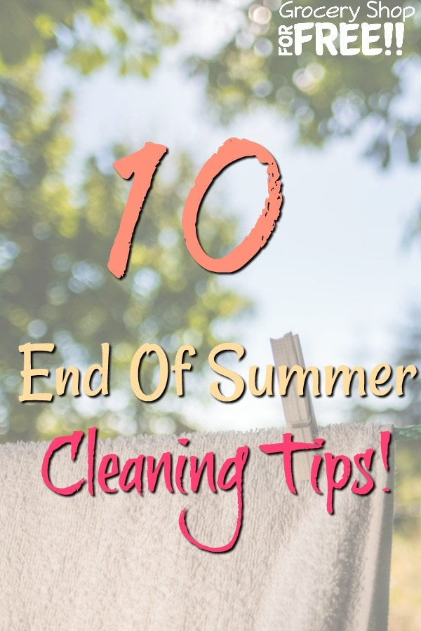 These super simple end of summer cleaning hacks will have you prepared for fall in no time.  You'll be able to rest assured you'll be ready for next summer, too!