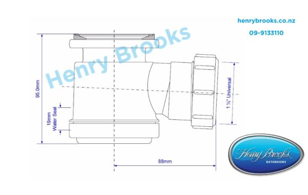 Easy-Clean-bath-waste-dimensions Henry Brooks