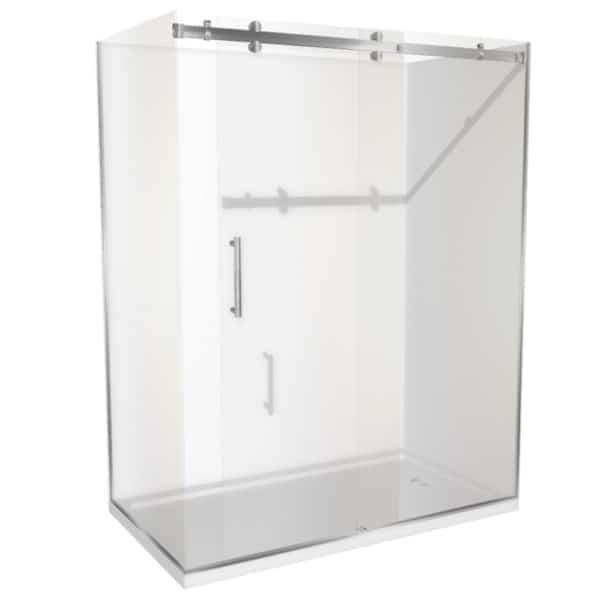 1800 x 900 shower 2 walled Corner Henry Brooks lh-sq