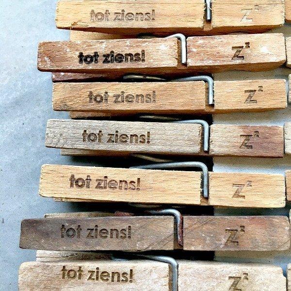 houten knijpers bedankjes