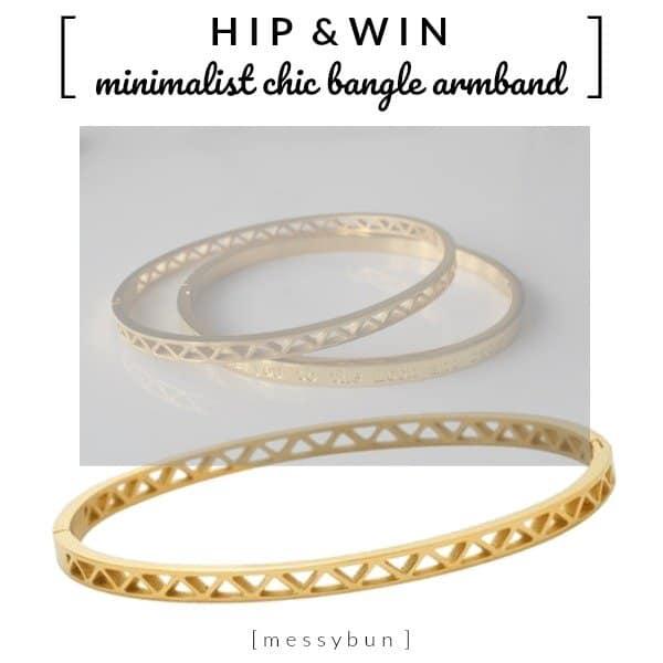 Minimalist Chic Bangle Armband van Messybun, shop your style