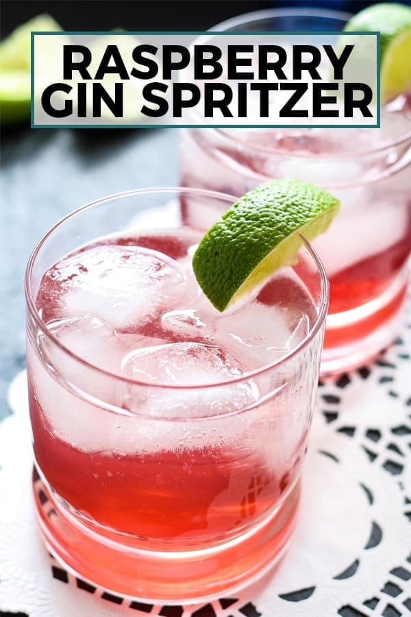 raspberry gin spritzer pinterest image
